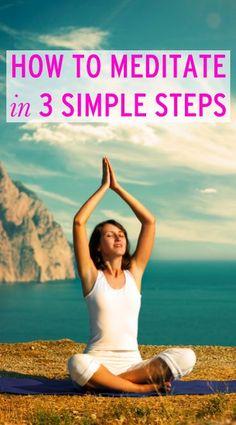 Learn how to start #meditating in 3 easy steps    #health http://www.genetichealthplan.com/