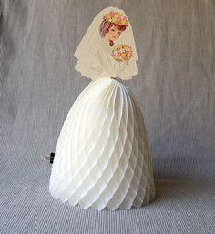 Vintage Honeycomb Paper Bride
