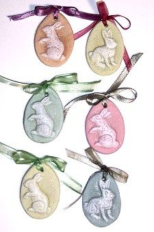 Salt dough ornaments and cookies stamps