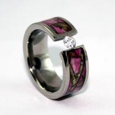 camoring diamond camo engagement ring camowedding - Wedding Rings Camo
