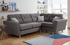 Fabric corner sofas in a range of great styles | DFS