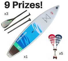Enter to Win an Earth River Inflatable SUP, Earth River 3 Piece Carbon Paddle, or Paddle Polo SUP Lacrosse Set