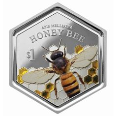 NEW ZEALAND COIN: New Zealand Features Honey Bee on World's First Silver Hexagonal Coin with Resin Inclusion