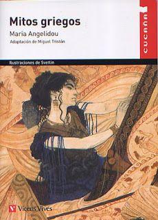 """""""Mitos griegos"""" de María Angelidou. Edit.Vicens Vives. En él se recogen 14 de los mitos griegos más conocidos, narrados con un lenguaje sencillo, Entre ellos se pueden destacar: Apolo y Dafne, el rapto de Europa, Ícaro y Dédalo o la caja de Pandora. http://es.scribd.com/doc/24804832/TRABAJO-TRIMESTRAL-2%C2%BA-ESO-2%C2%BA-TRIMESTRE-"""