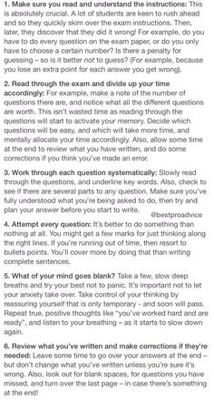 Strategies on taking essay exams