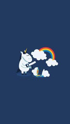 Image result for papel de parede unicornio
