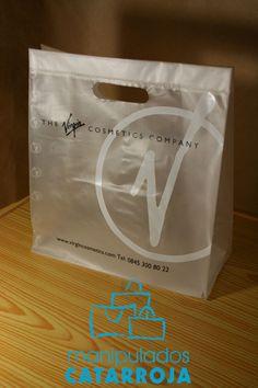 Bolsas plástico de lujo con impresión.