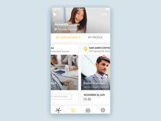 Mobile Design Inspiration — Social App Interaction by Irina Medyantseva —. Interaktives Design, Best Ui Design, Mobile App Design, Mobile Ui, Card Ui, Ui Animation, App Design Inspiration, Ui Web, User Interface Design