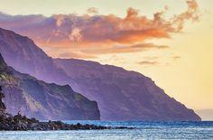 Sunset at Ke'e Beach, Kauai, Hawaii