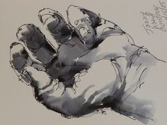 David Lobenberg gestural drawing & watercolor