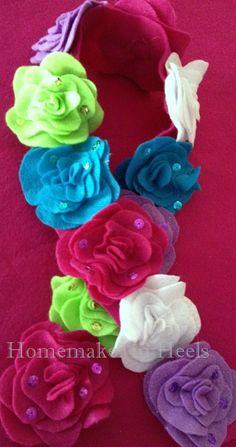 Homemaker in Heels: Sequined Rose Scarf {Child/Adult} Tutorial