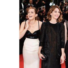 Emma Watson, in Chanel Haute Couture, with Repossi jewels, and Sofia Coppola, in Louis Vuitton