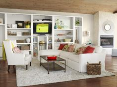 Living Room: After - From Dump to Dreamy Beach House on HGTV