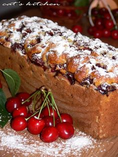 Chec cu nuca de cocos si cirese Romanian Desserts, Romanian Food, Sweets Recipes, Cooking Recipes, Russian Cakes, Good Food, Yummy Food, Pastry And Bakery, Bread Baking
