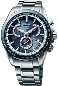 Seiko Astron Watch GPS Solar Dual Time #basel-15 #bezel-fixed… http://www.thesterlingsilver.com/product/a-b-art-mens-quartz-watch-with-black-dial-chronograph-display-and-black-leather-strap-oc103/
