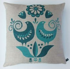 Happy birds pillow: so beautiful...