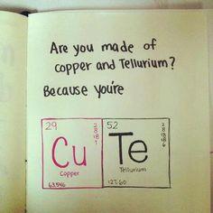 which chemicals are you? Cu + Te = Cute