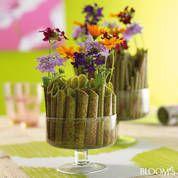 Raffiniert und dekorativ: Steckhilfe für Blumen