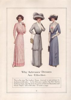 Edwardian Fashion Print from McCalls by PastPaperNPostcards, $2.00