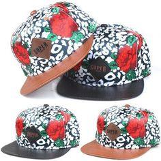 Red Roses Snapback Bboy Men Woman Hats Adjustable Korean Fashion Cap Style S-020 #SuperCrew #RedRoses
