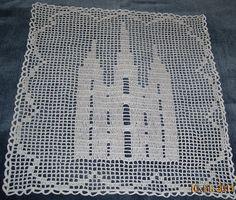 Salt Lake Temple in Filet Crochet by LittleCornerStore on Etsy