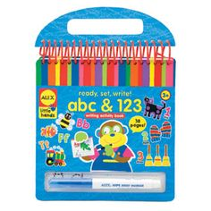 $12.99 - Finally...NO MESS...Learn ABC?s and 123?s.• It?s so easy with a wipe away book. • 7 x 7 (18cm x 18cm) • Spiral bound pad • Includes 19 pages • Wipe away marker.• Use over, and over, and over again!