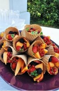 Fruit cones ~ just a beautiful display