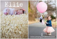 One Year Baby Balloon Portraits in Charlotte | Amory Anderson Photography