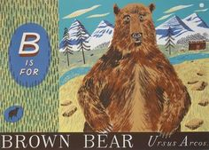 """Emily Sutton's """"B is for Bear"""" screen print, part of her alphabet series http://www.stjudesprints.co.uk/collections/emily-sutton-prints"""