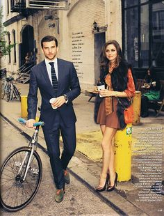 """infinite-fash-cination:    Magazine: Instyle Germany, September 2012Models: Olivia Palermo and Johannes HueblTopic: """"New York city style""""Pictures: Max von Treu"""