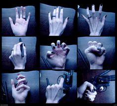 Hand Reference by PsychoDjinn on deviantART