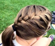 Pleasant Sporty Sporty Hair And Side French Braids On Pinterest Short Hairstyles For Black Women Fulllsitofus