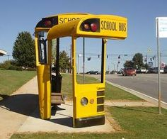 school bus=school bus stop shelter