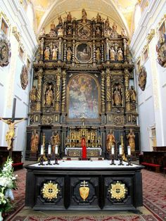 An Imposing Altar - sanctuary of the Cathedral of St. John the Baptist in Trnava, Slovakia John The Baptist, Bratislava, Capital City, Barcelona Cathedral, Big Ben, Catholic, Europe, Building, Corner