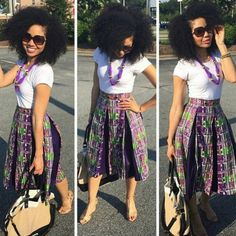 60 Ways to Style Your Ankara Skirts - Wedding Digest Naija African Dresses For Women, African Wear, African Fashion Dresses, Fashion Outfits, African Clothes, African Attire, African Women, Samoan Dress, Hawaiian Fashion