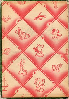 """End paper from """"Fairy Tales retold by Katherine Gibson"""", 1950"""