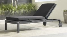 "Alfresco Grey Chaise Lounge with Sunbrella ® 3"" Cushion 
