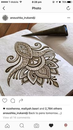 Omg that's so smart!!! Use cloth notebook and actually use henna!