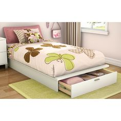 South Shore Twin Platform Bed with Storage III
