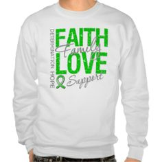 Determination Faith Family Spinal Cord Injury Pullover Sweatshirt by www.giftsforawareness.com #awareness #SpinalCordInjury
