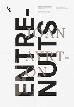 Poster by french graphic studio Les Graphiquants (Paris, France) Galerie Kamchatka - Identité d'expositions, Entrenuits Joan Ayrton. #lesgraphiquants #poster