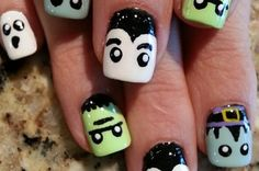 27 Delightfully Spooky Ideas For Halloween Nail Art @tidytamatha check these out!