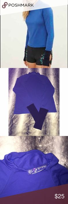Without walls activewear long sleeve top Blue and black activewear long sleeve top size L NWOT Urban Outfitters Tops Sweatshirts & Hoodies