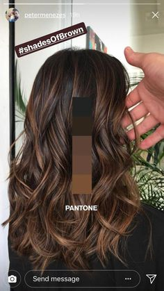 Hair Color Brown Shades Balayage Ideas For… Trend Herbst Haarfarbe Ideen Brown Hair Color Shades, Brown Ombre Hair, Brown Hair Balayage, Hair Color Balayage, Light Brown Hair, Brown Hair Colors, Chocolate Brown Hair With Highlights, Balayage Brunette, Caramel Hair With Brown