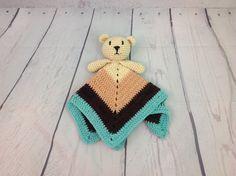 Baby Bear Lovey - Free Crochet Pattern - OkieGirlBling'n'Things Crochet Teddy Bear Pattern Free, Teddy Bear Patterns Free, Crochet Blanket Patterns, Baby Blanket Crochet, Crochet Baby, Crochet Toys, Irish Crochet, Baby Patterns, Crochet Animals