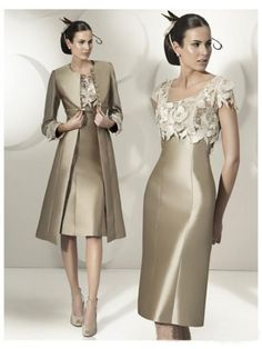 2016 Hot Sale Elegant Sheath Party Dress Lace Satin Mother Of The Bride Dress Knee Length Dress With Jacket Mother Of The Bride Dress And Jacket Mother Of The Bride Dresses Adelaide From &Price; Bride Groom Dress, Bride Gowns, Bride Suit, Buy Dress, Lace Dress, Dress Tops, Dress Prom, Taffeta Dress, Prom Gowns