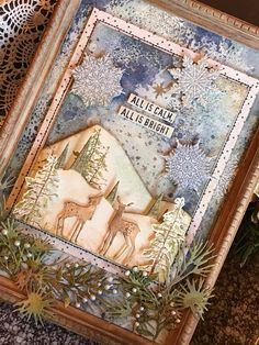 Hello Friends! Today I am sharing a framed panel that I made yesterday. I had all intensions to create some Christmas cards but one thing led to another and this Christmas card decided to take on a…