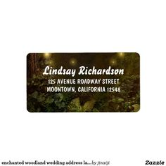 enchanted woodland wedding address labels
