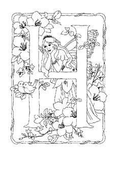 Fichas didacticas de alfabetos con dibujos infantiles. 146