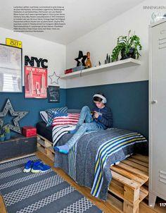Boys Bedroom Paint, Small Room Bedroom, Bedroom Colors, Painting Boys Rooms, Big Boy Bedrooms, Teen Room Decor, Modern Bedroom Design, Boy Room, Home Decor